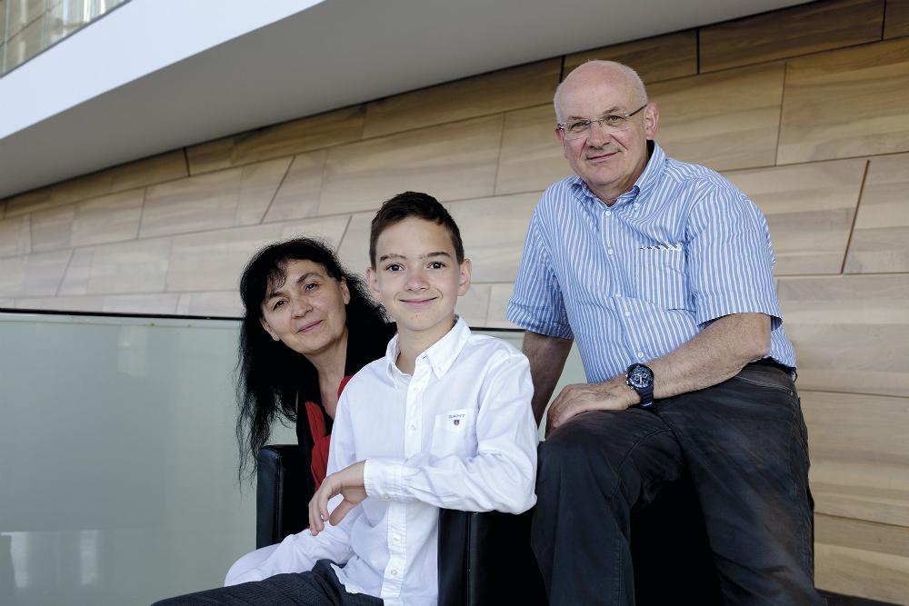 Boros Misi szüleivel, kép: Duba Máté